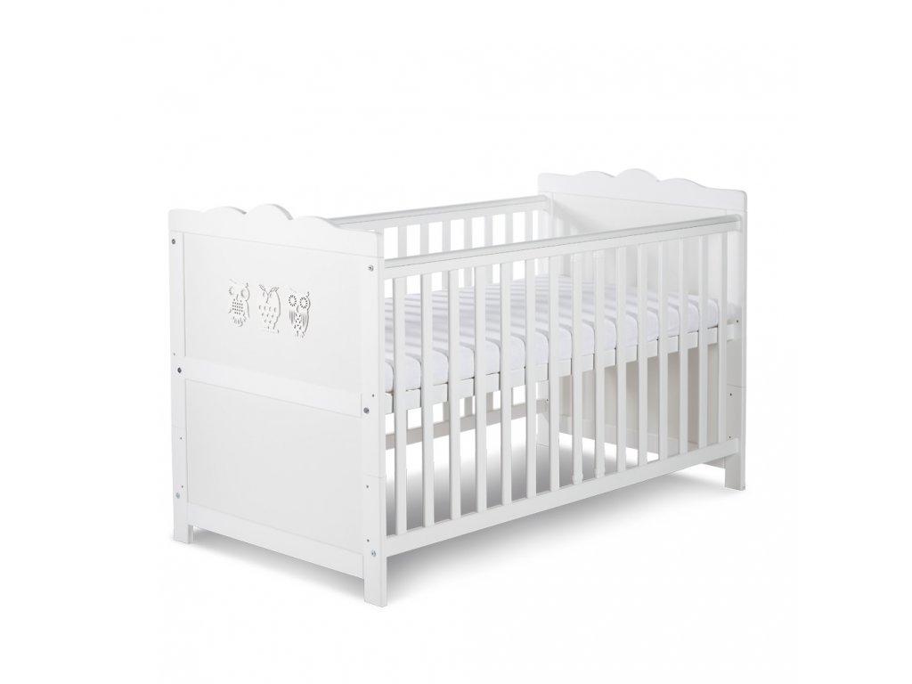 Biela detská postieľka MARSELL 140x70
