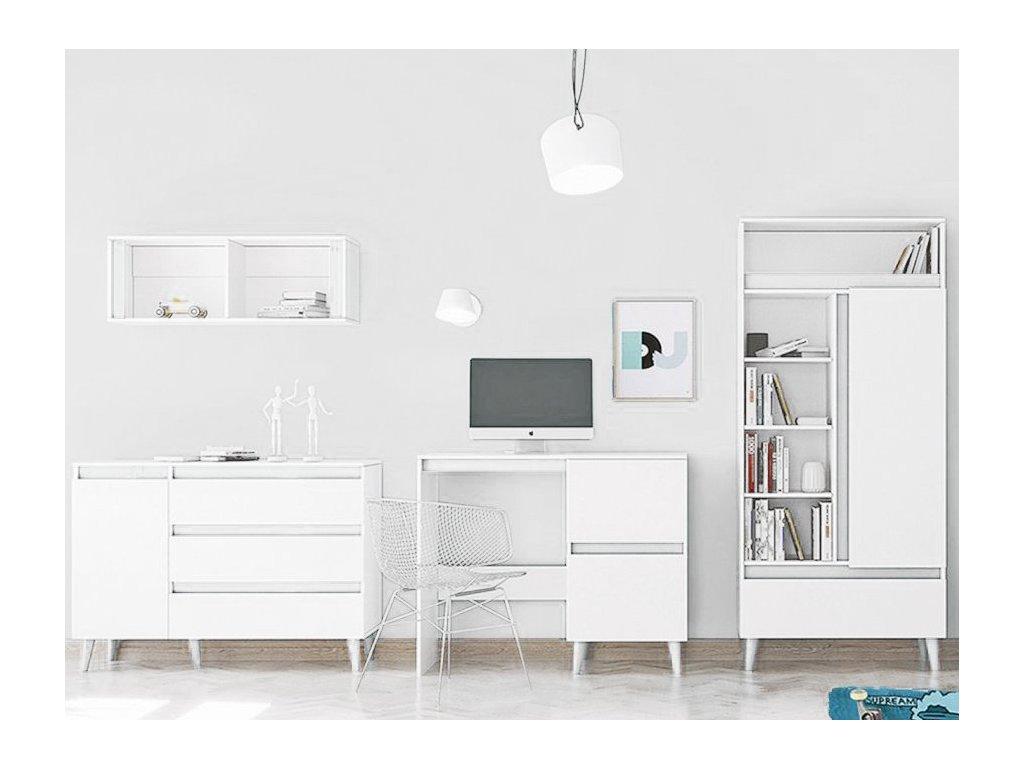 Nábytková stena TIP 3 - biela
