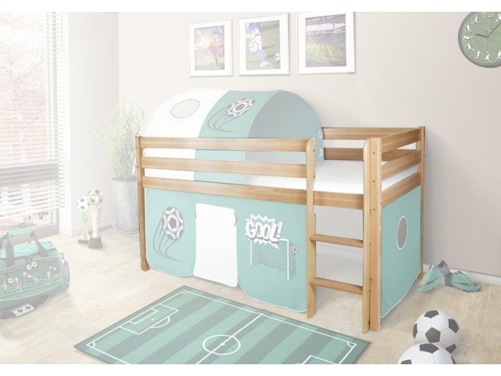 Vyvýšená detská posteľ POLA 90x200 - borovica