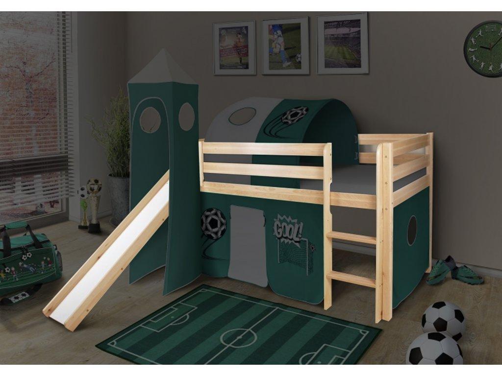 Vyvýšená detská posteľ SORO 90x200 - borovica
