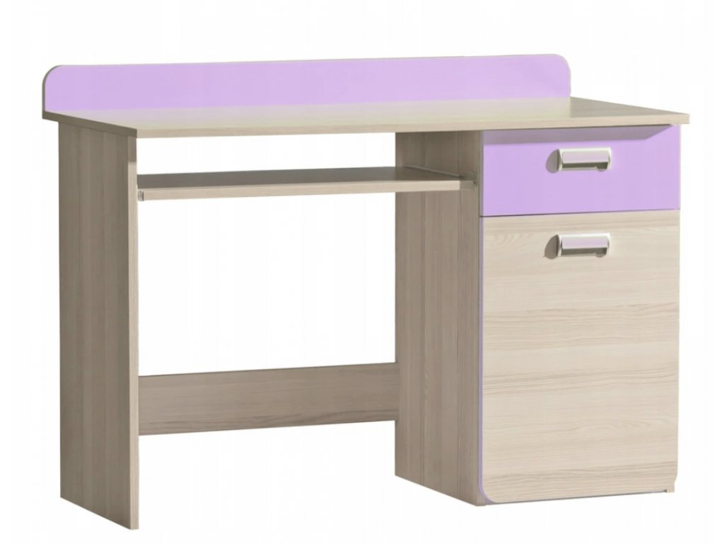 Písací stôl LUCAS L10 - fialový/zelený