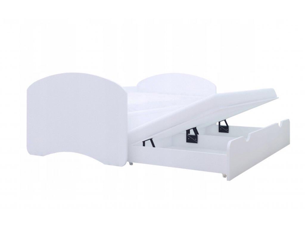 Posteľ Mery 2 s prístelkou biela - viac variantov