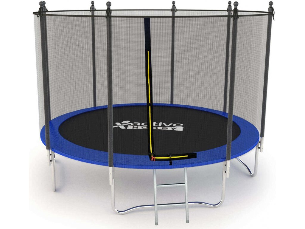 Trampolína Modrá Active Hobby 404cm s ochrannou sieťou a rebríkom