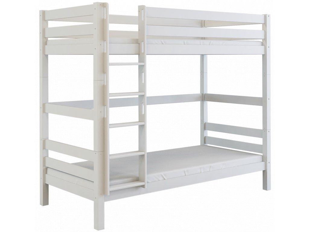 Poschodová posteľ Oliver 2 (200X90) - biela
