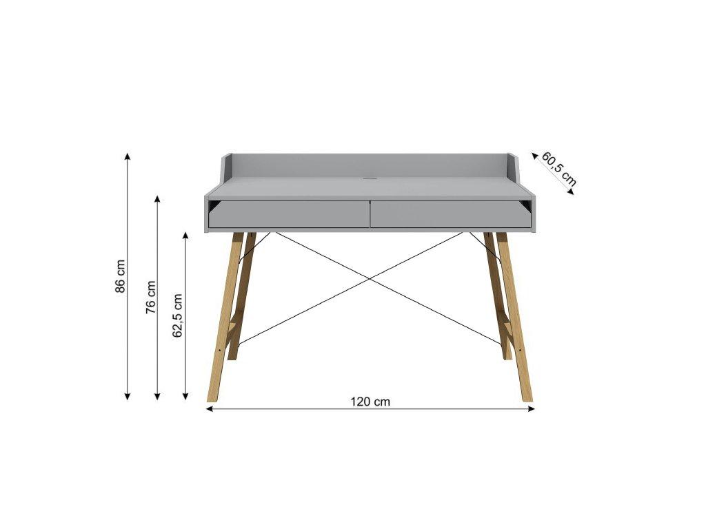 Písací stôl do detskej izby JULKO sivý