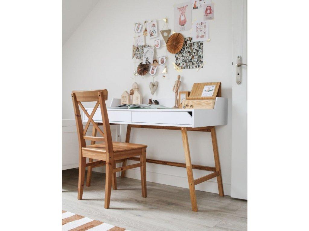 Písací stôl do detskej izby JULKO biely