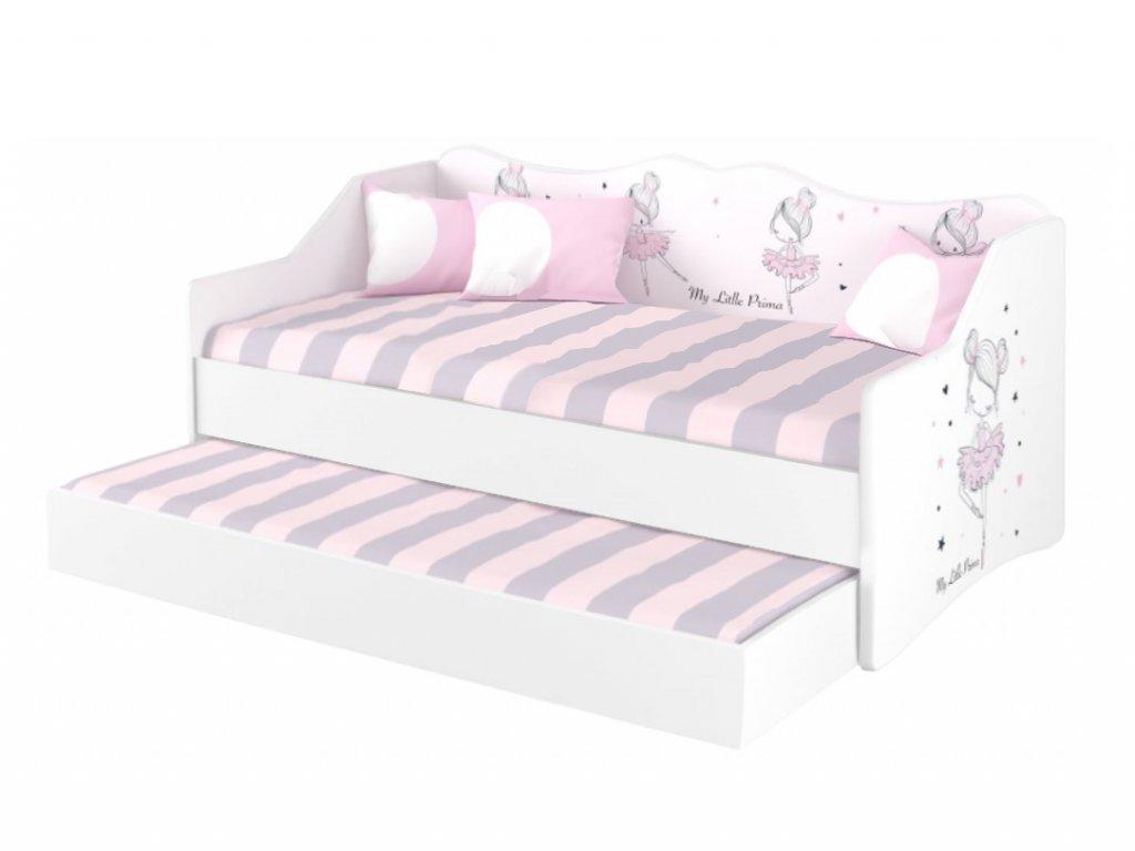Detská posteľ s prístelkou Ballerina 160x80