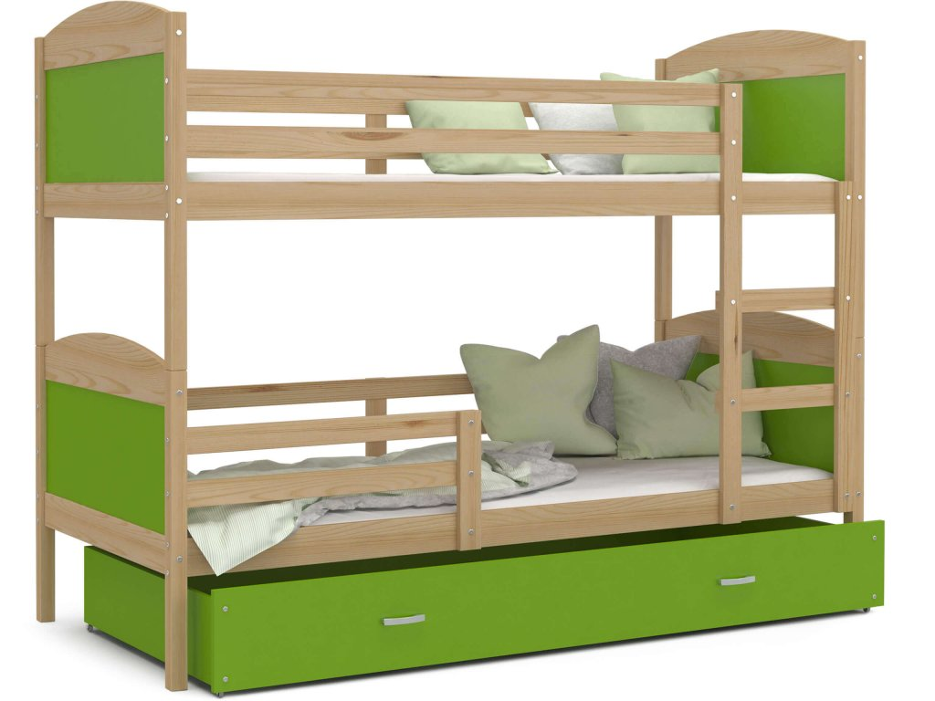 Mates Borovica Color s úložným boxom 190x80 zelená