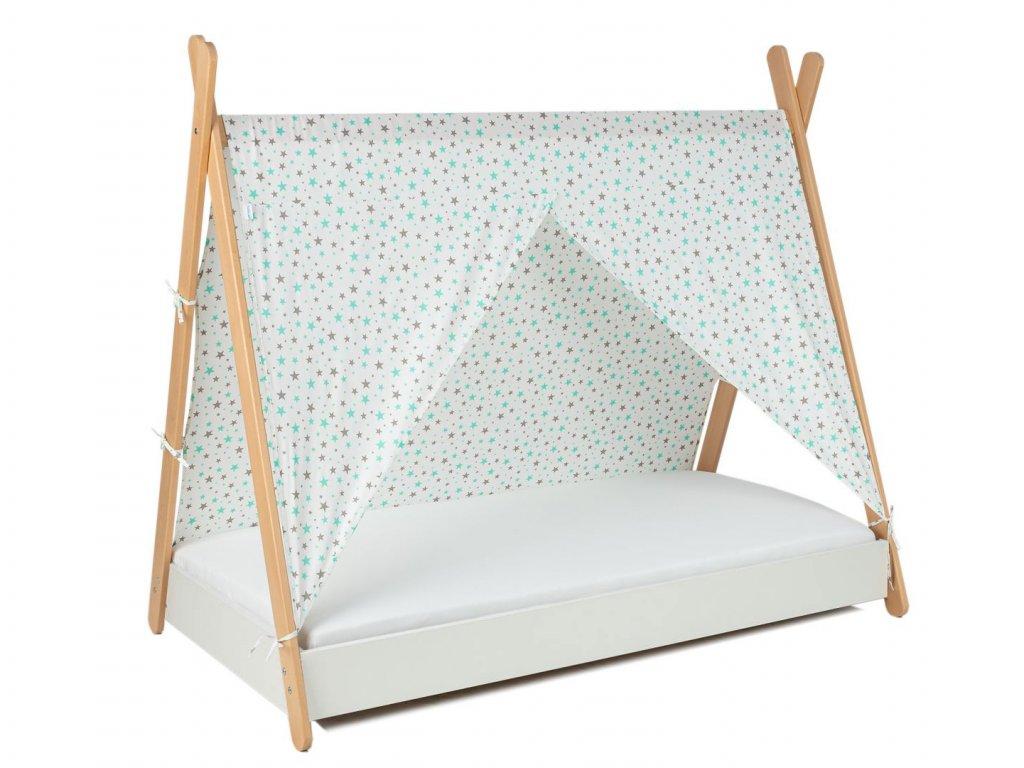 Detská posteľ Tipi so strieškou 180x80
