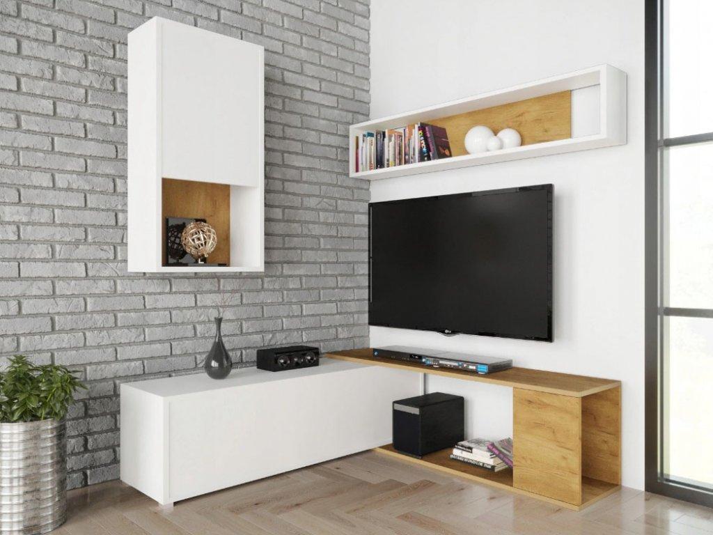 Obývacia stena Aron-biela