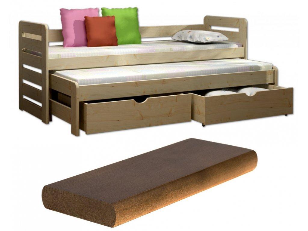 FA3775 Detská posteľ Veronika 11 200x90 cm s prístelkou viac farieb 13