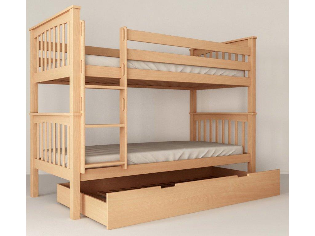 Poschodová posteľ Salix 200x90 cm