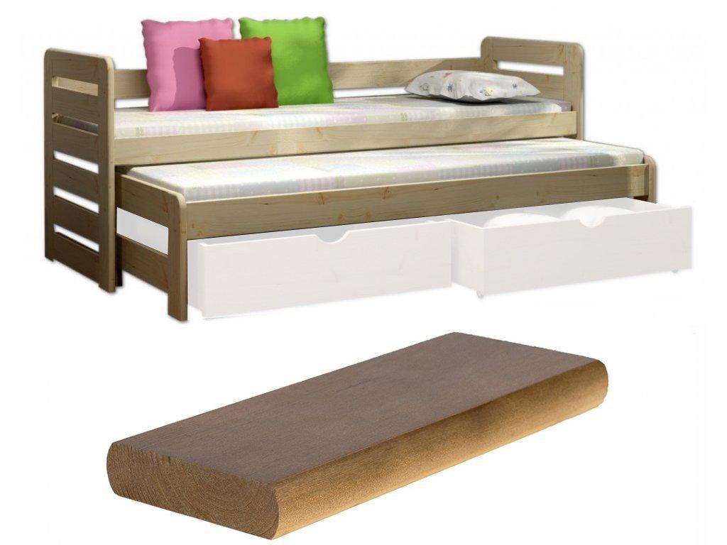 Veronika 11 180x80 posteľ s prístelkou dub výpredaj