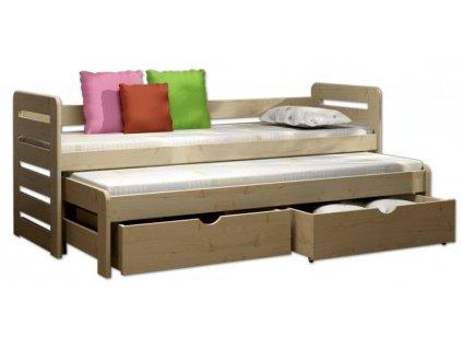 Detská posteľ Veronika 11 (180x80 cm) s prístelkou