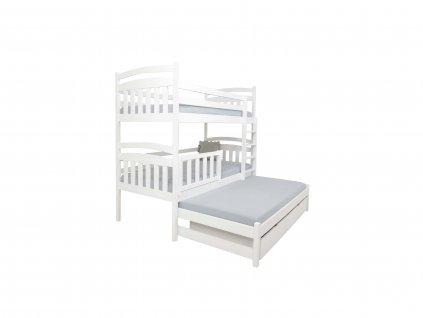 Poschodová posteľ s prístelkou Petra 1 200x90