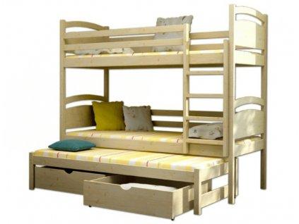 Petra 2 180x80 Poschodová posteľ s prístelkou