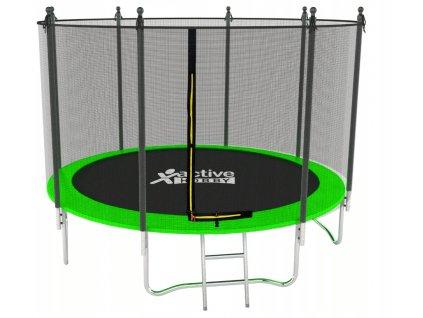 Trampolína Zelená Active Hobby 435cm s ochrannou sieťou a rebríkom