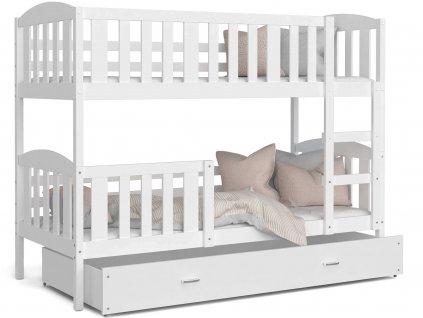 Kuba color 190x80 Biela poschodová posteľ