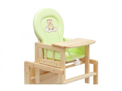 Pvc vložka do stoličky na kŕmenie zelená