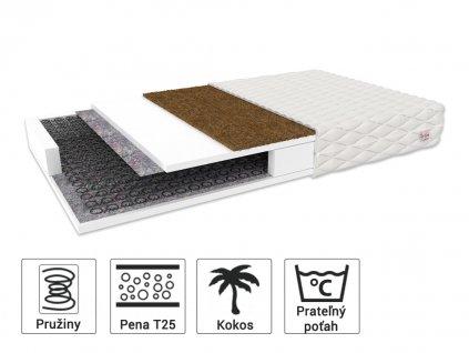 Sealy matrac s kokosom 200x140