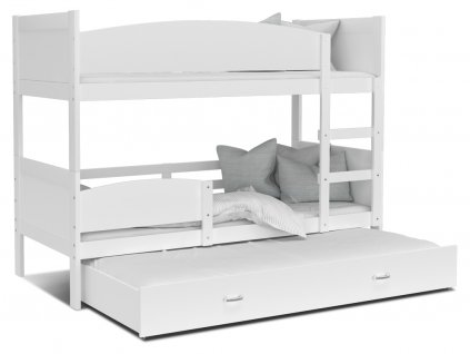 Poschodová posteľ Twist 3 Biela 190x80