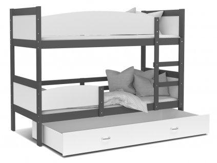 Poschodová posteľ Twist 2 Grafit 190x80