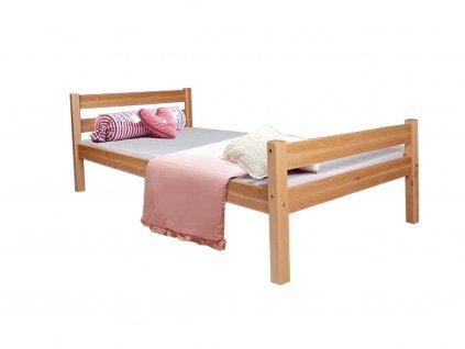 Helga borovica/biela detská posteľ 200x90 - výpredaj