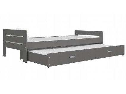 Detská posteľ Ben P2 200x90 sivá