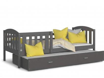Kuba P2 190x80 sivá detská rozkladacia posteľ
