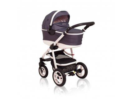 Originálny kombinovaný kočík Aprilia Coto Baby 2v1 - DARK GREY