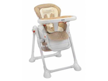 Praktická jedálenská stolička Coto baby Zefir Béžová