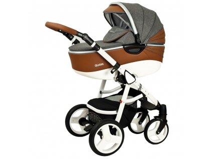 Kombinovaný kočík pre deti Quara Coto Baby Sivý eco 2v1
