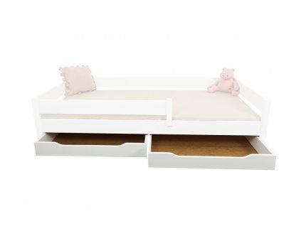 Sada úložných boxov  biele pre posteľ Mix/Diego Pred 200
