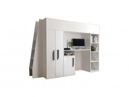 Multifunkčná poschodová posteľ biela Party 15