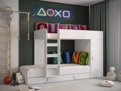 Multifunkčná posteľ biela Toledo 2