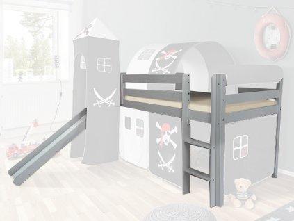 Vyvýšená detská posteľ SORO 90x200
