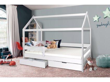 Detská posteľ domček Martin 200x90 - biely