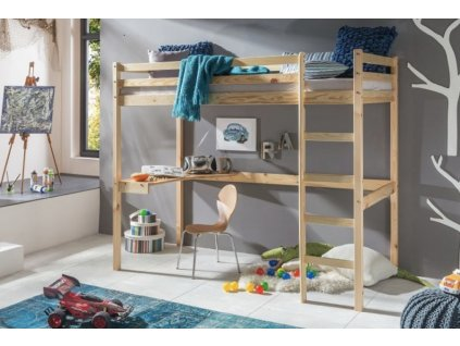 Vyvýšená detská posteľ Aria 200x90 - prírodná