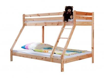 Poschodová posteľ s rozšíreným lôžkom Elias 140x200