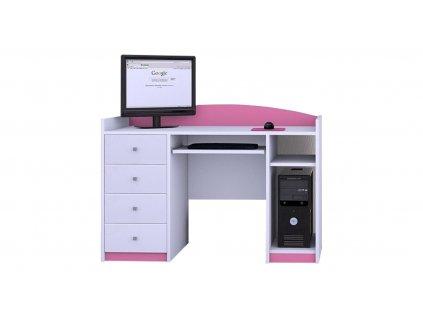 Písací stôl Mery ružový B02 - viac variantov