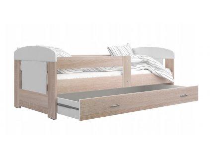 Detská posteľ Jakub 140x80 - Havana/Dub sonoma