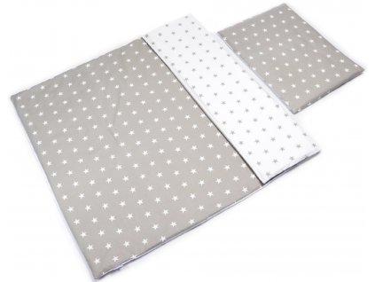 Detské bavlnené obliečky (100x135+40x60) - hviezdičky
