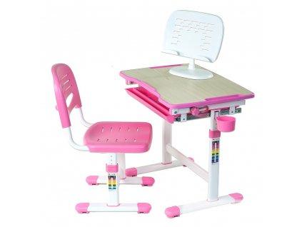Rastúci stôl pre deti Pikolo - ružový