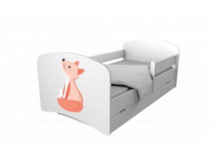 Special Edition detská posteľ 160x80 LÍŠKA + úl. box
