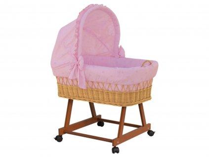 Detský prútený kôš Medvedík - ružový