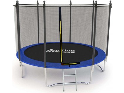 Trampolína Modrá Active Hobby 435cm s ochrannou sieťou a rebríkom