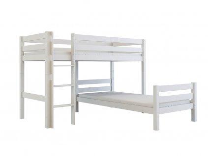 Poschodová posteľ do L Alba 200x90 cm