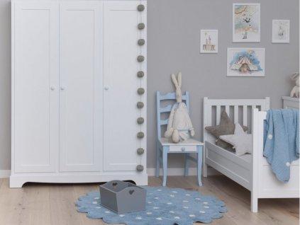 Okrúhly prateľný koberec Dots Blue