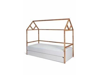 Detská posteľ domček Lotta 90x200 - biela