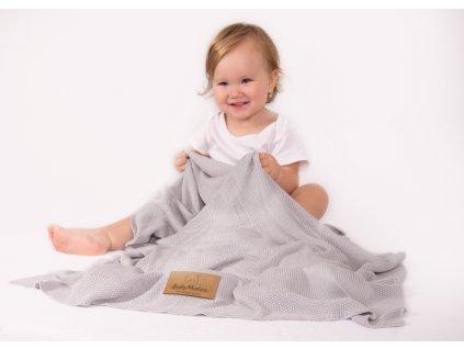 Bambusová deka BabyMatex 100x80 - vo viaverých farbách